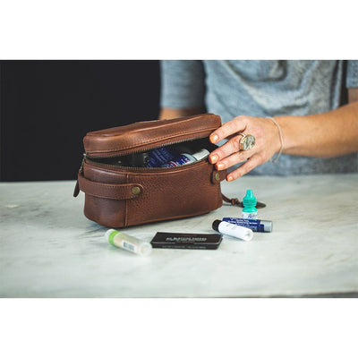 Small Desmond Leather Travel Kit