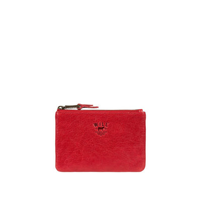 Small Flat Lamb Pouch Pouch WillLeatherGoods Red