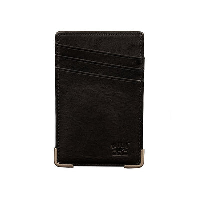 Front Pocket Wallet with Money Clip Wallet WillLeatherGoods Black
