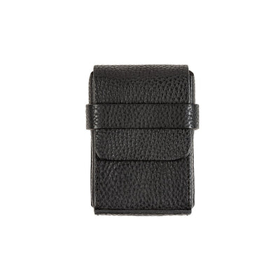 Leather Playing Card Case Home WillLeatherGoods Black