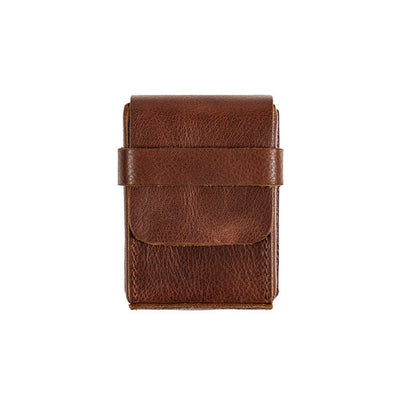 Leather Playing Card Case Home WillLeatherGoods Cognac