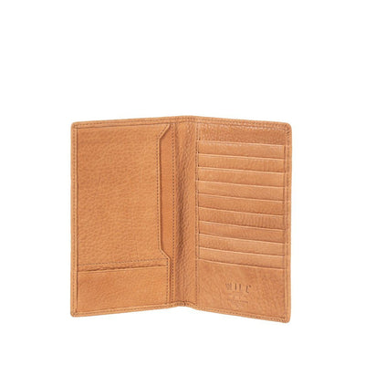 Bison Pocket Secretary Wallet WillLeatherGoods Tan