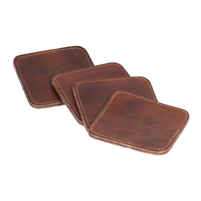 Coaster Set Beverage WillLeatherGoods LAST CHANCE