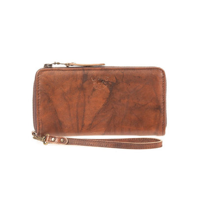 Leather Zip Around Clutch - FINAL SALE Wallet WillLeatherGoods Black Brown Marble