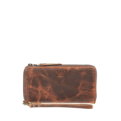 Leather Zip Around Clutch Wallet WillLeatherGoods
