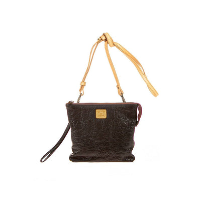 Small Opal Crossbody - FINAL SALE Crossbody WillLeatherGoods Black Washed Lamb