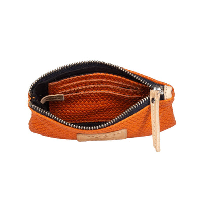 Woven Leather Small Pouch Pouch WillLeatherGoods