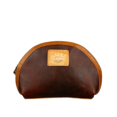 All-Leather Makeup Bag Will Leather Goods COGNAC