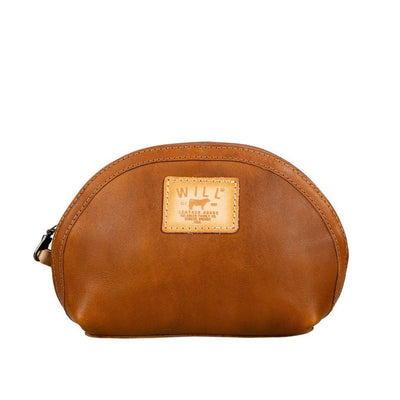 All-Leather Makeup Bag Will Leather Goods TAN