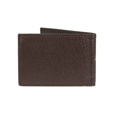 Pebble Slim Fold Wallet Brown Back