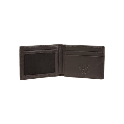 Pebble Slim Fold Wallet Brown Inside