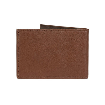 Pebble Slim Fold Wallet Tan Back