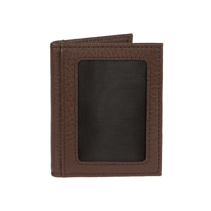 Pebble Card Fold Wallet Brown Back