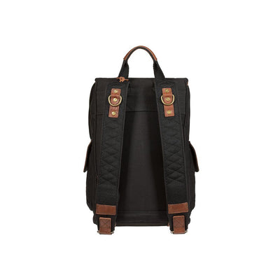 Lennon Backpack Black Brown Back