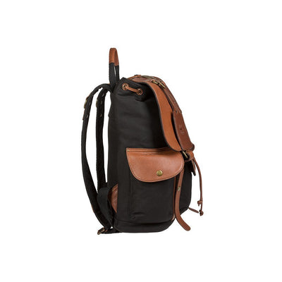 Lennon Backpack Black Brown Side