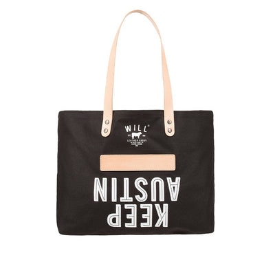 Keep Austin Tote Tote WillLeatherGoods LAST CHANCE Black Final Sale