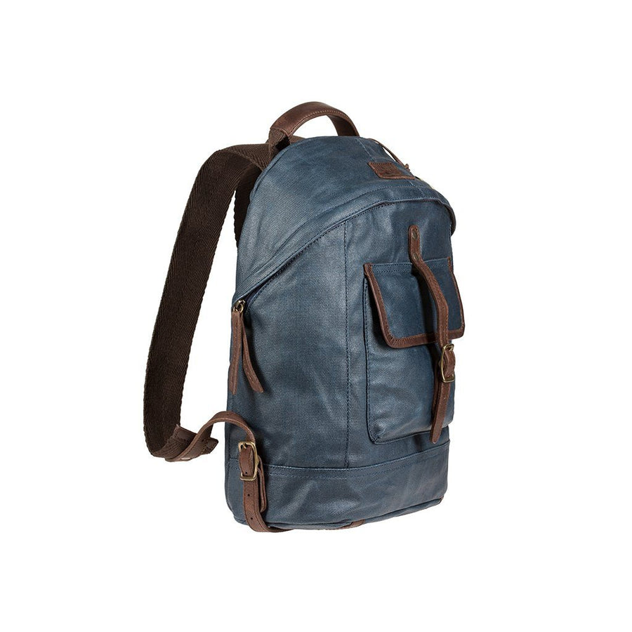 Navy Wax Coated Canvas Dome Backpack - New and Improved