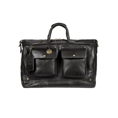 Leather Traveler Duffle Black
