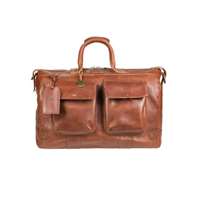 Leather Traveler Duffle Cognac
