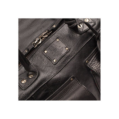 Leather Traveler Duffle Black Details