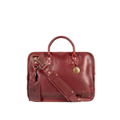 Hank Satchel Satchel WillLeatherGoods Burgundy
