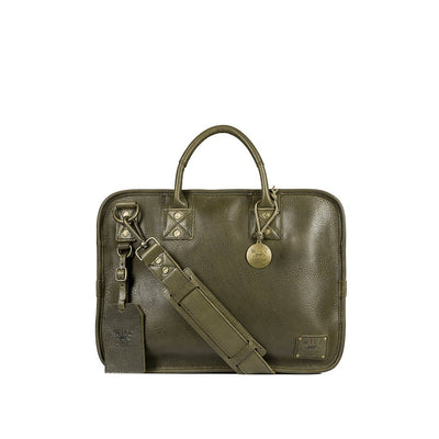 Hank Satchel Satchel WillLeatherGoods Olive Grey