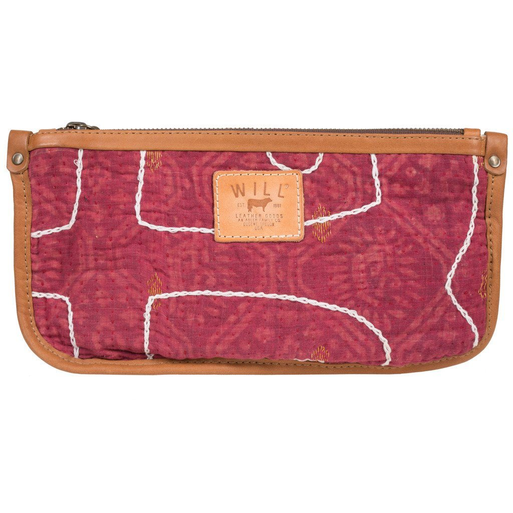 Kantha Quilted Clutch <br><font size=3 color= red> * FINAL SALE 50% off *</font>