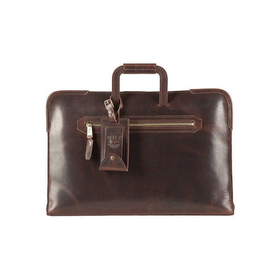 The Diplomat Attache William Bag WillLeatherGoods Dark Brown