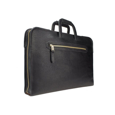 The Diplomat Attache Black William Bag WillLeatherGoods LAST CHANCE