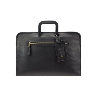 The Diplomat Attache Black William Bag WillLeatherGoods LAST CHANCE Black Final Sale