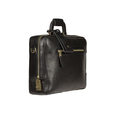 Black The Continental Briefcase Side
