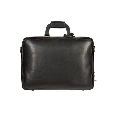 Black The Continental Briefcase Back