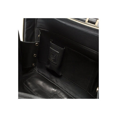 Black The Continental Briefcase Inside