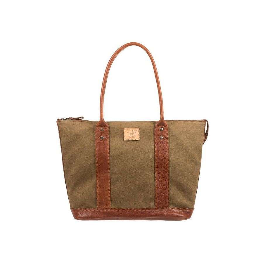 Signature Canvas & Leather Getaway Tote