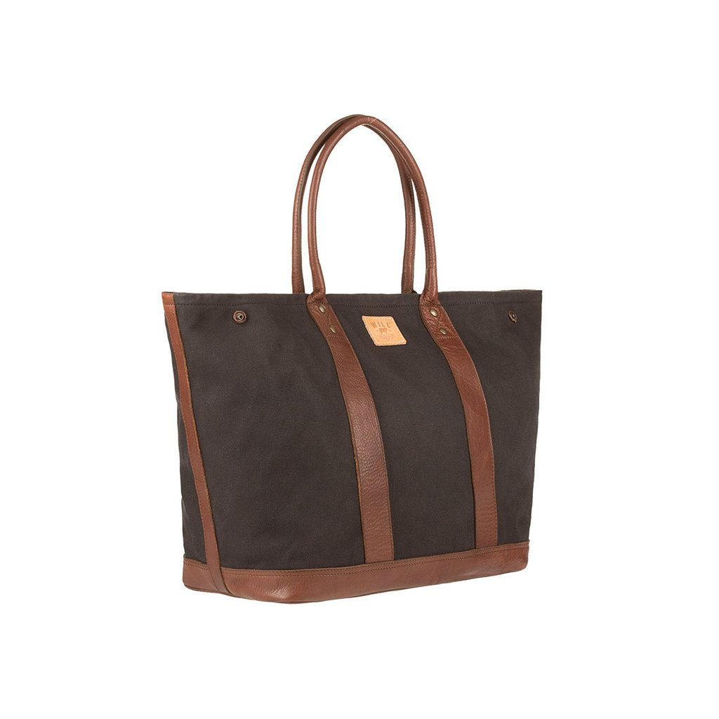 Signature Canvas & Leather Cargo Tote