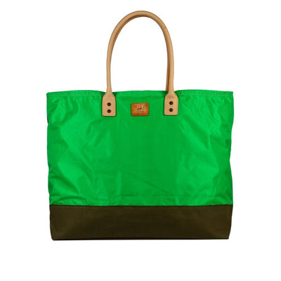 Grande Tote Will Leather Goods Neon Green & Camo