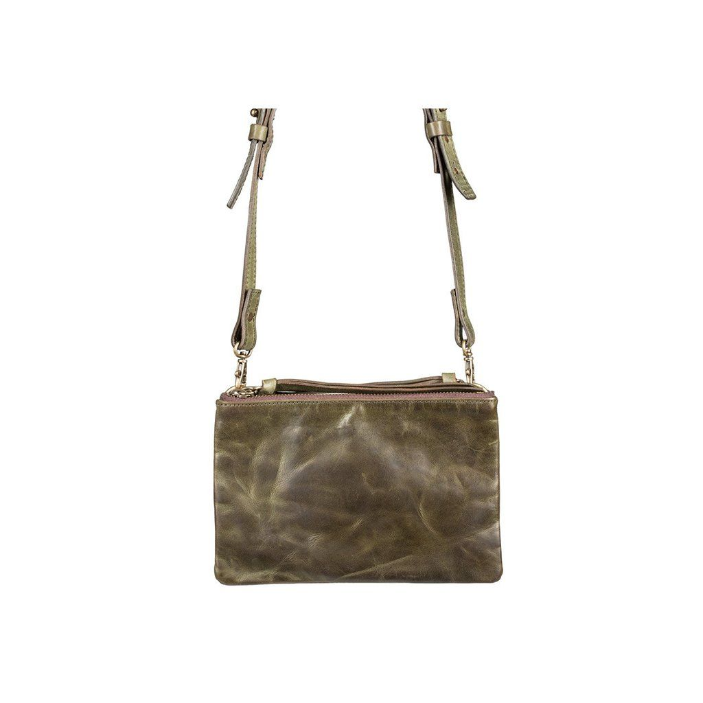 Double Zip Convertible Clutch