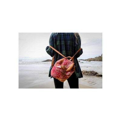 Kantha Quilted Mini Backpack