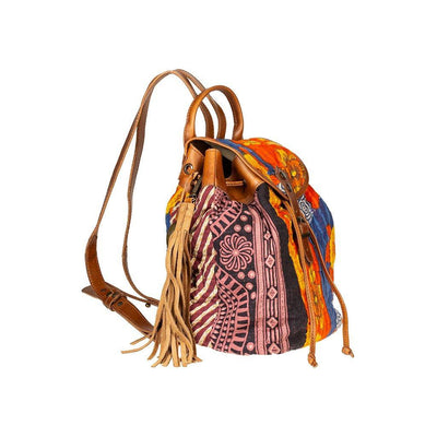 Kantha Quilted Mini Backpack Backpack WillLeatherGoods