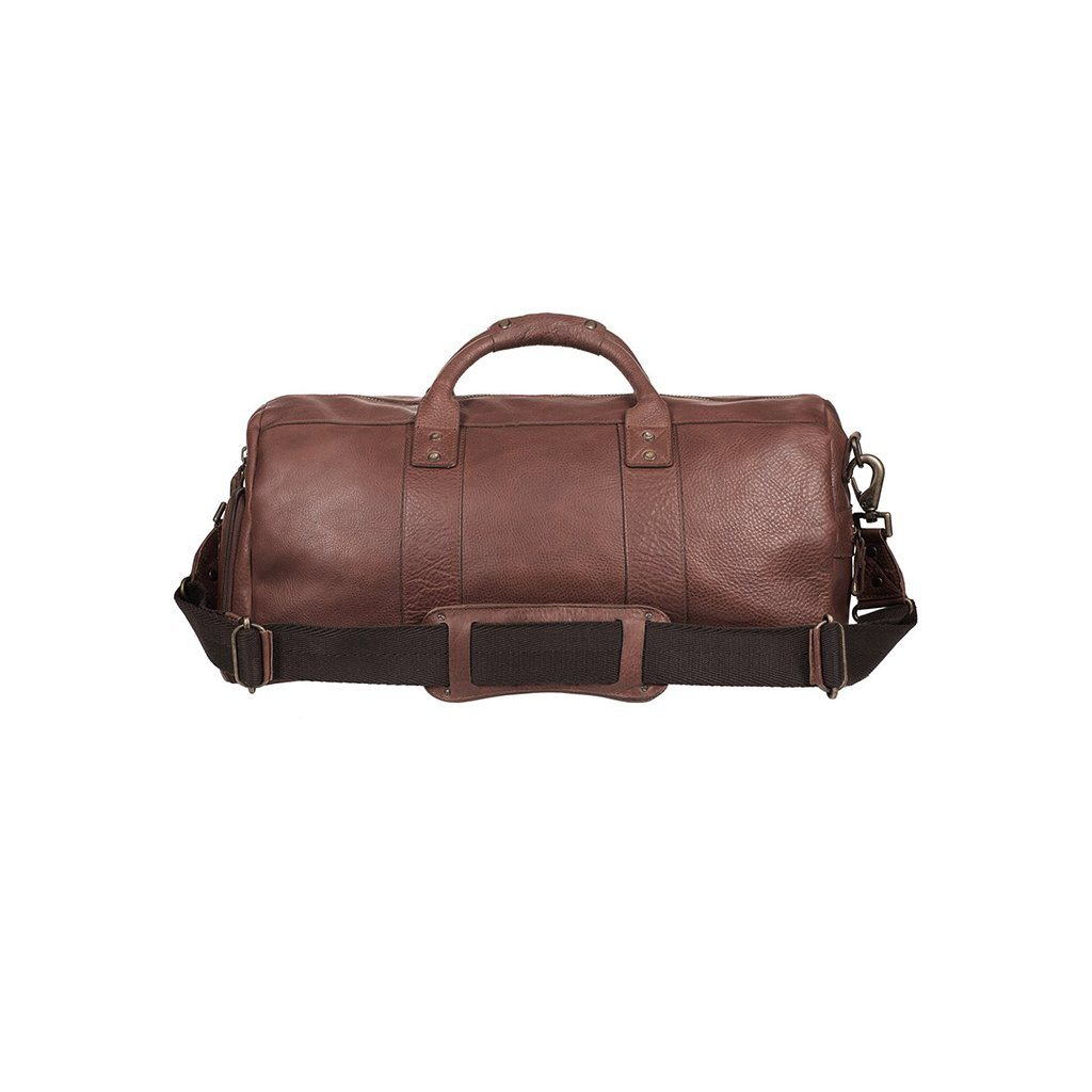 brown leather atticus shoe duffle