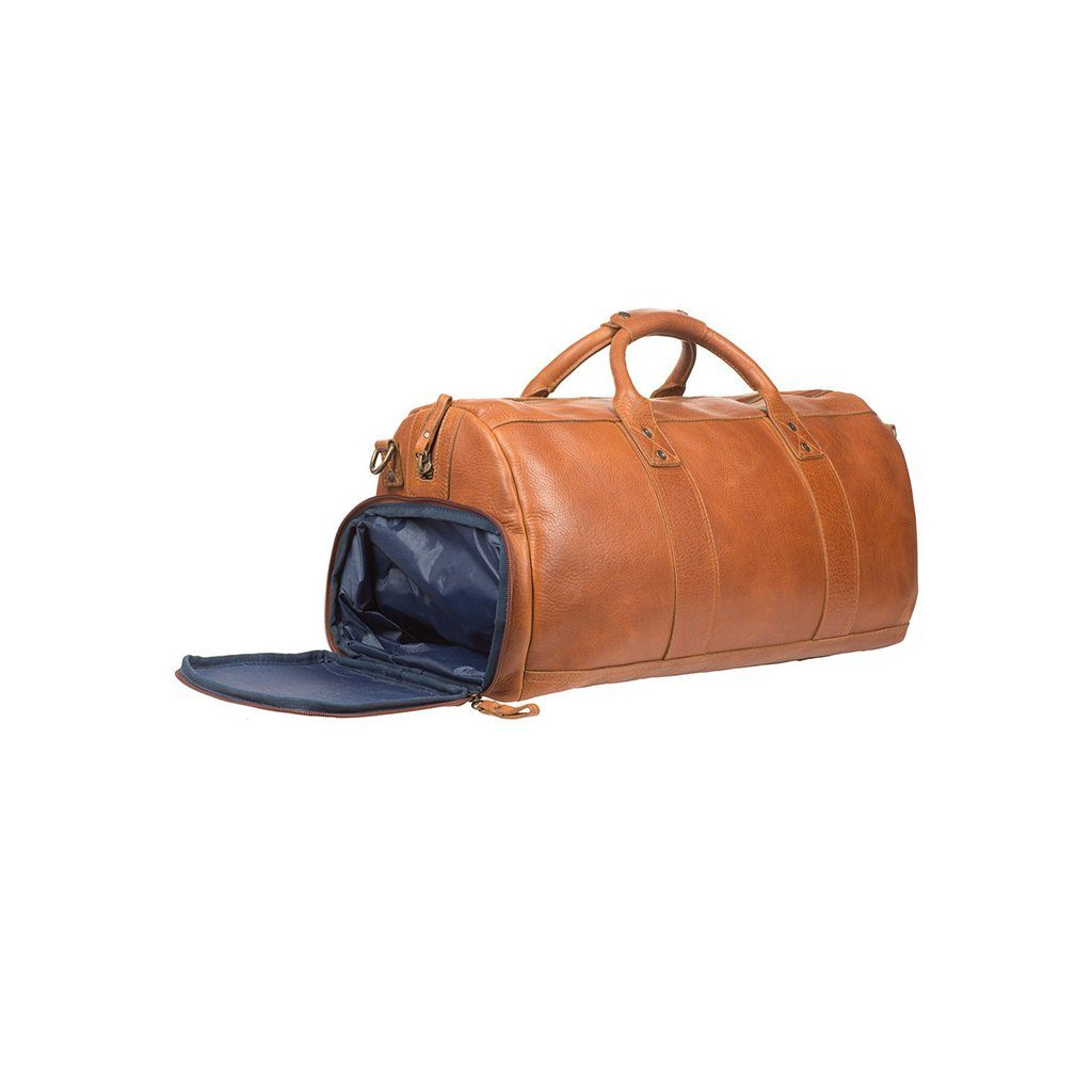 tan leather atticus shoe duffle