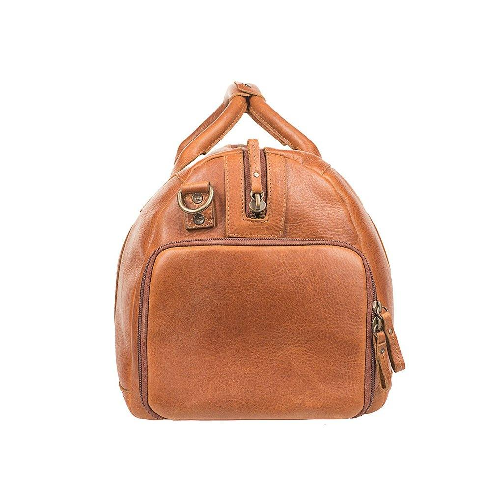 tan leather atticus duffle