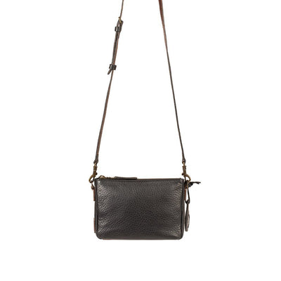 Getaway Top Zip Crossbody Crossbody WillLeatherGoods Black