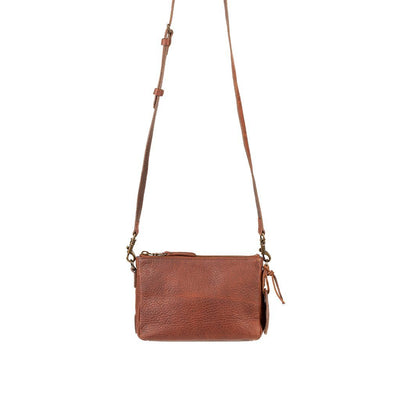 Getaway Top Zip Crossbody Crossbody WillLeatherGoods Cognac