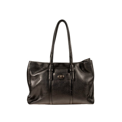 The Negotiator Work Tote Tote WillLeatherGoods Black