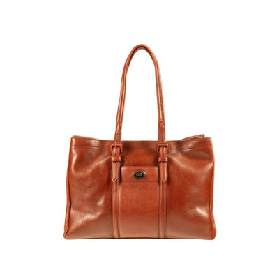 Classic Work Tote Tote WillLeatherGoods Cognac