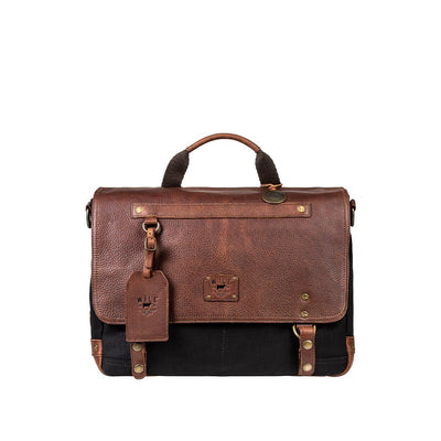 Wallace Messenger Messenger WillLeatherGoods Black/Brown