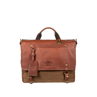 Wallace Messenger Messenger WillLeatherGoods Tobacco/Saddle