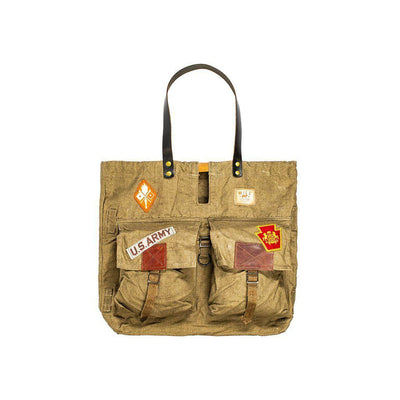 Vintage Military Patch Tote STORE Tote WillLeatherGoods LAST CHANCE AST - In store Final Sale