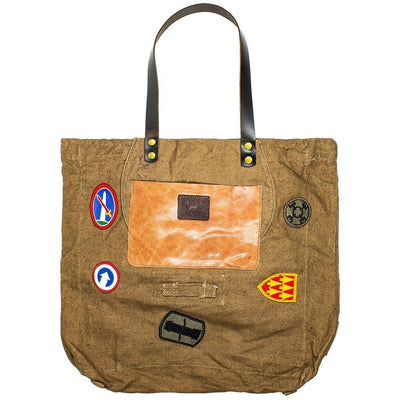 Vintage Military Patch Tote Tote WillLeatherGoods